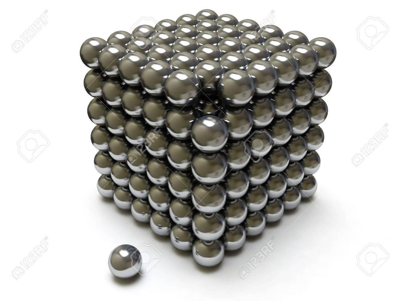 Chrome cube Stock Photo - 6355697