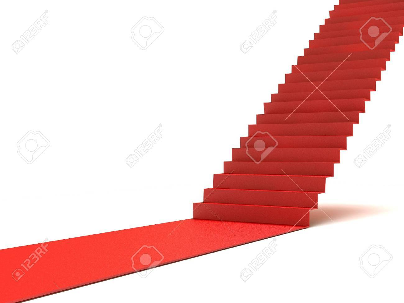 Career stairs. Red carpet Stock Photo - 6452415