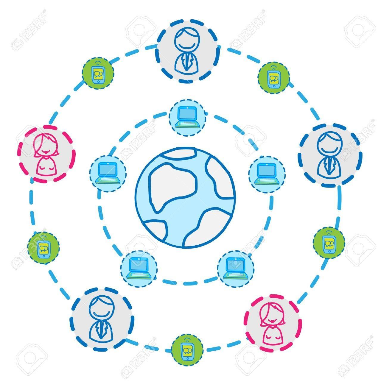 globe internet connecting vector Stock Vector - 11079419