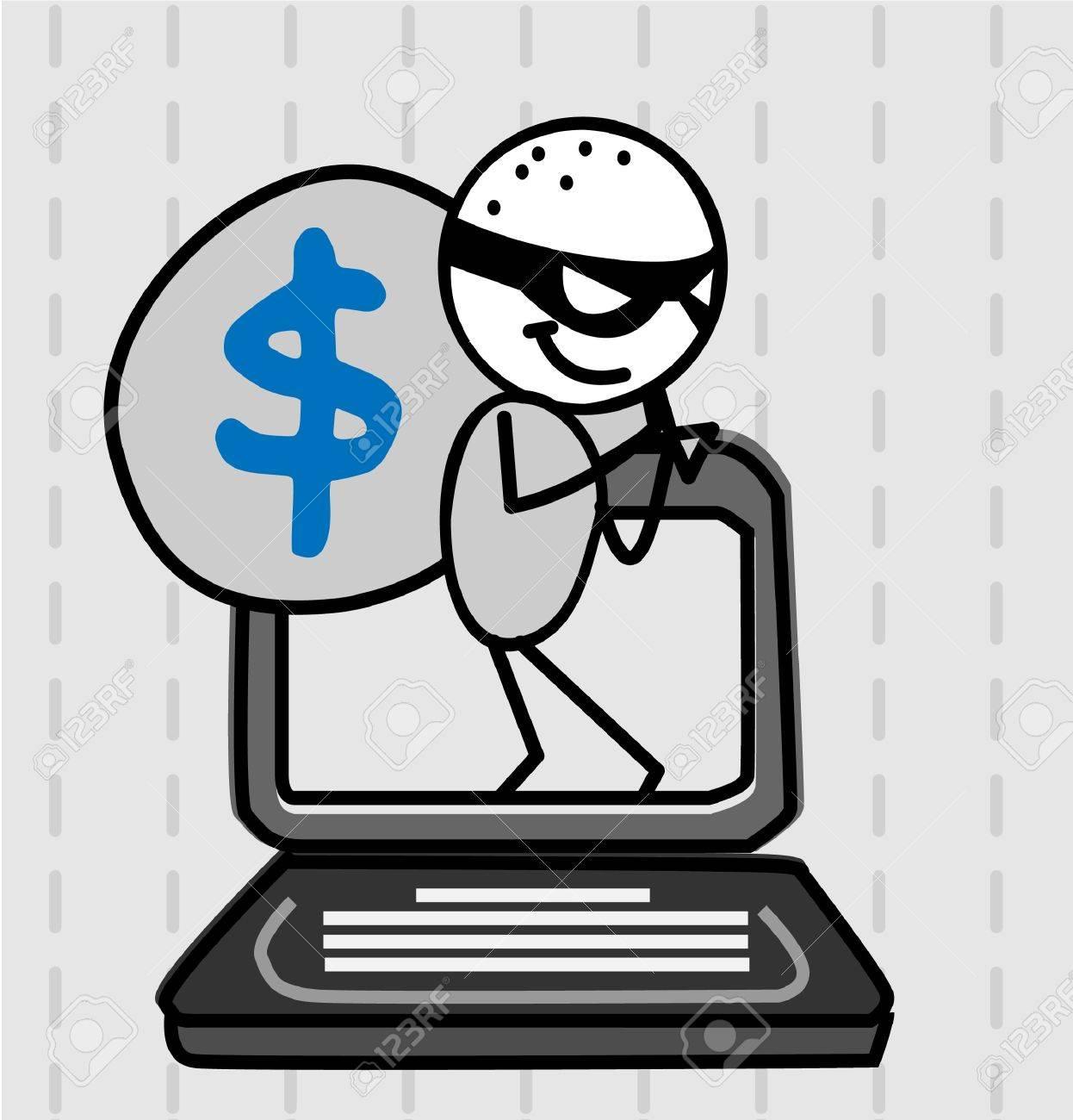 hacker thief Stock Vector - 11079328