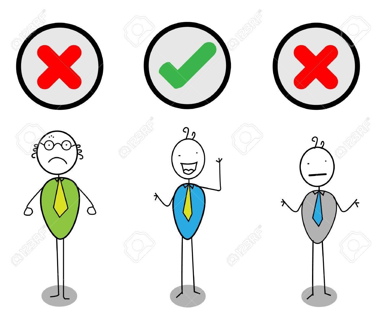 check mark businessman V n X Stock Vector - 11079358