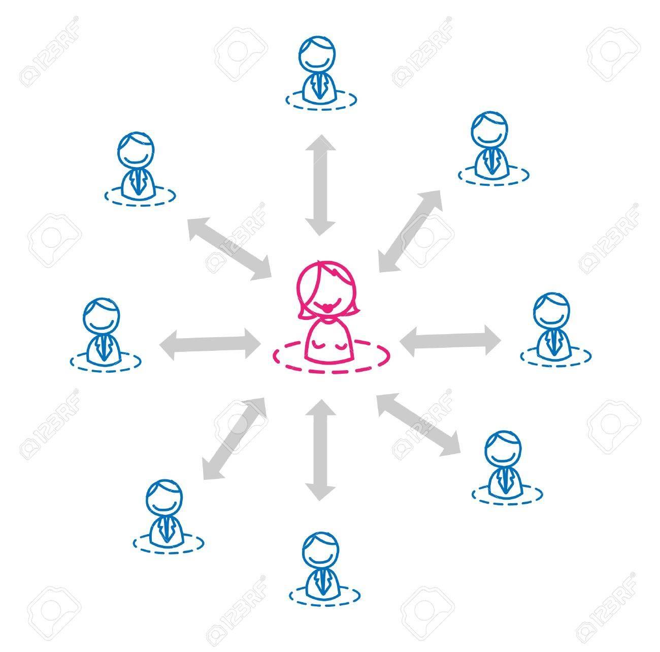 women leader network Stock Vector - 11079607