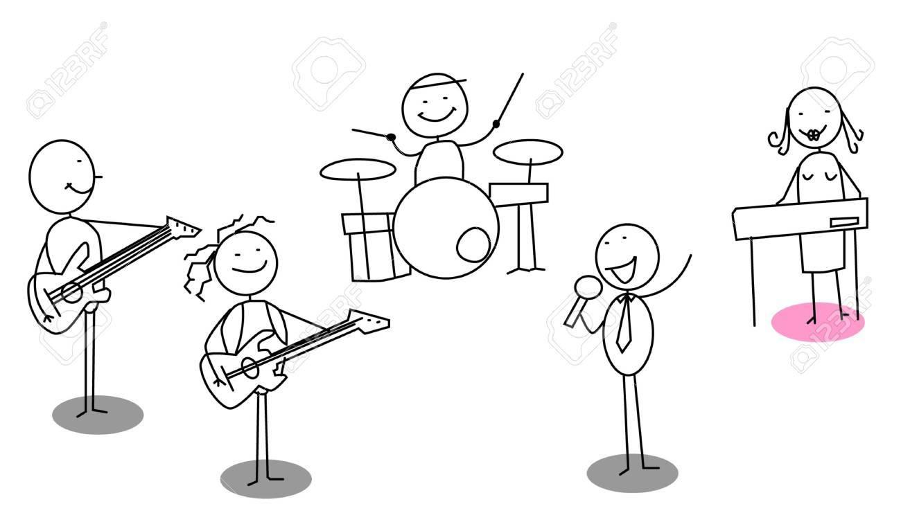 The musician team Stock Vector - 11122958