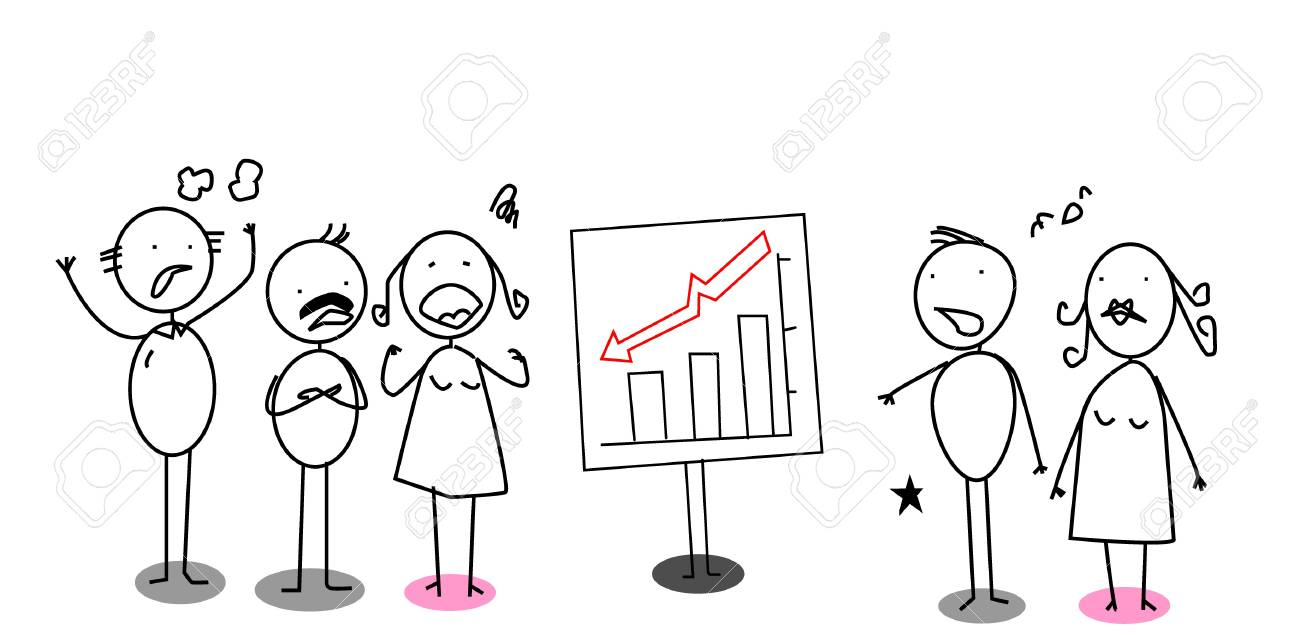down chart angry businessman Stock Vector - 11122948