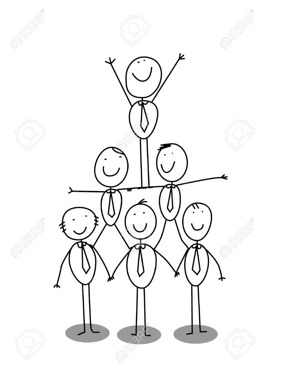 organitation chart teamwork - 11143506