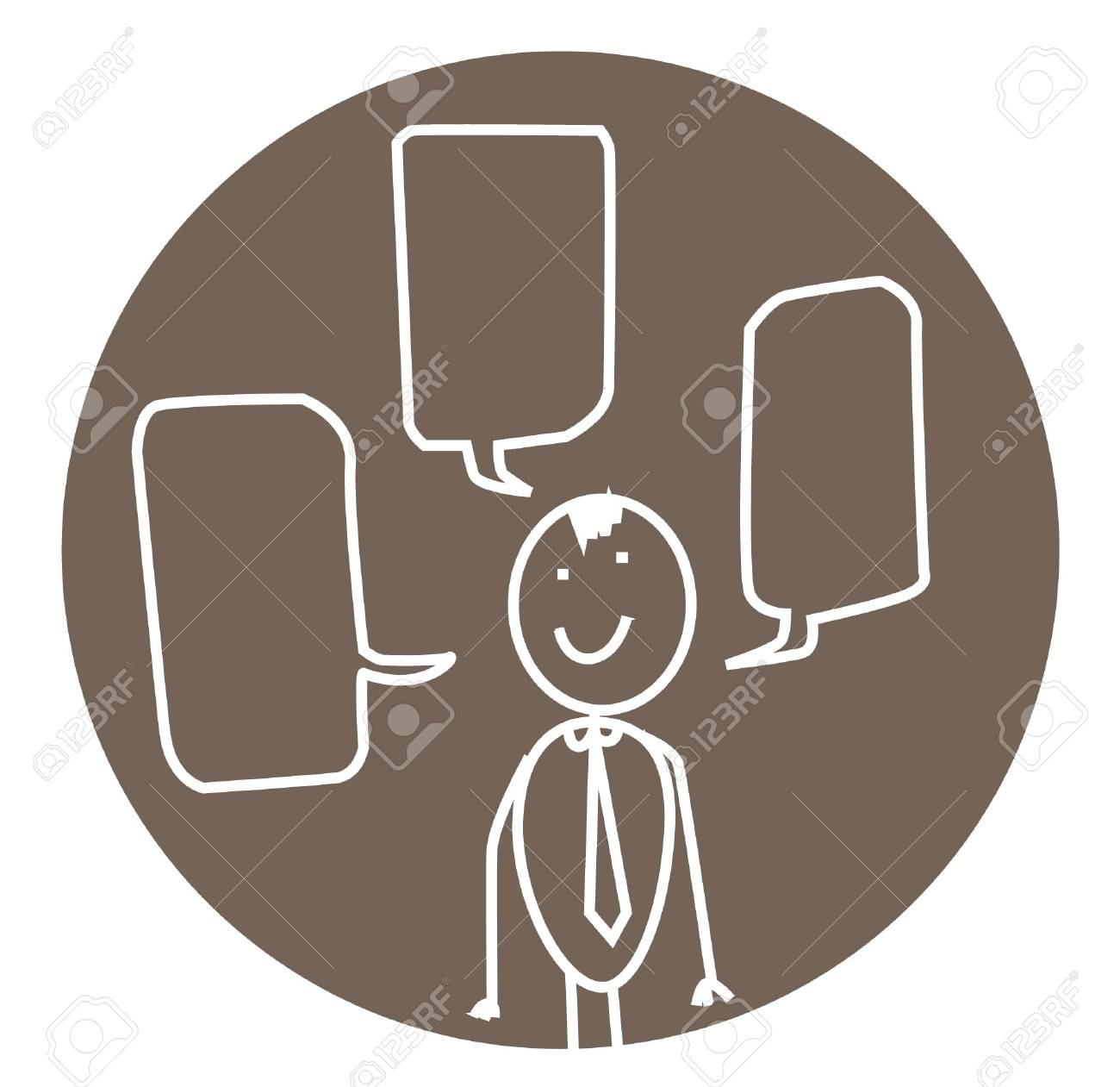 communication man Stock Vector - 11531092