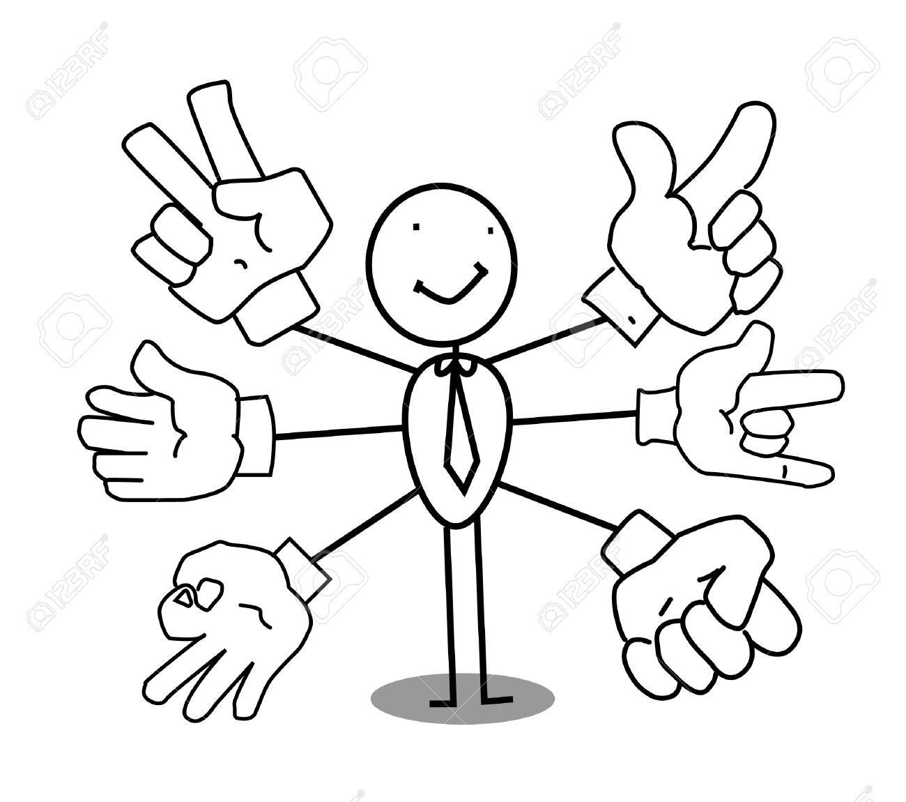 hand sign businessman Stock Vector - 11815143
