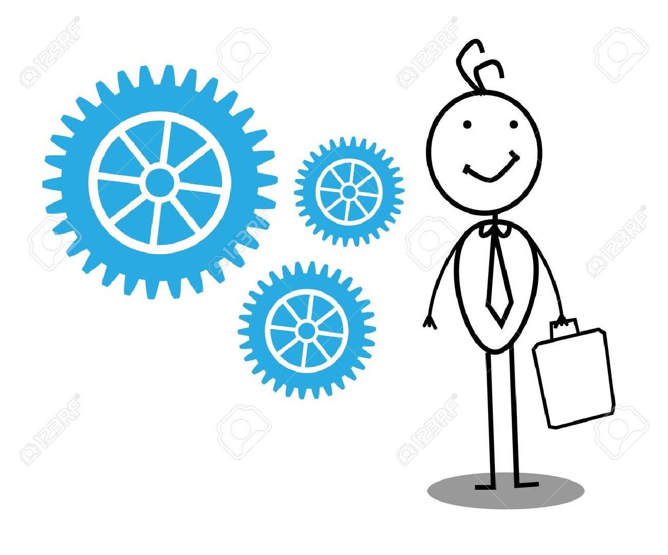 Businessman Gear Stock Vector - 12053621