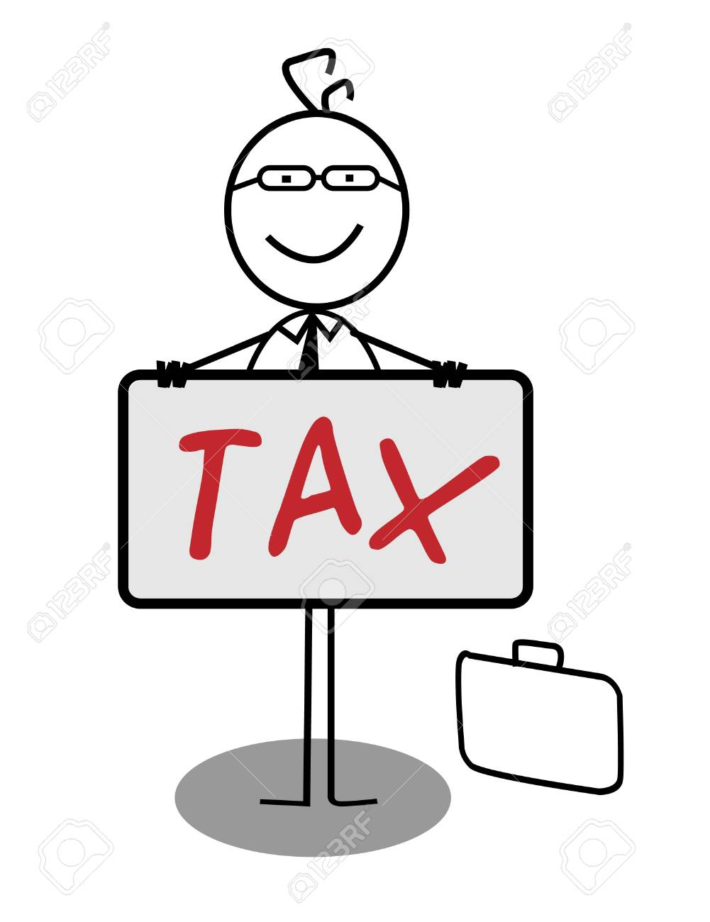 Businessman Happy Tax Banner Stock Vector - 13189344