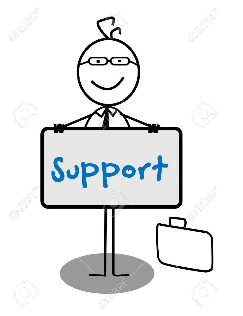 Businessman Support Banner Stock Vector - 13189352