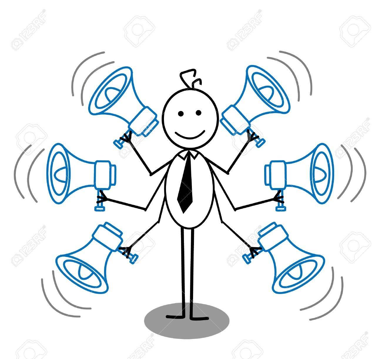businessman and megaphone Stock Vector - 13325055