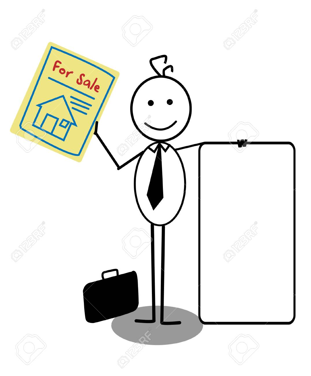 Businessman Sale House Stock Vector - 13654779