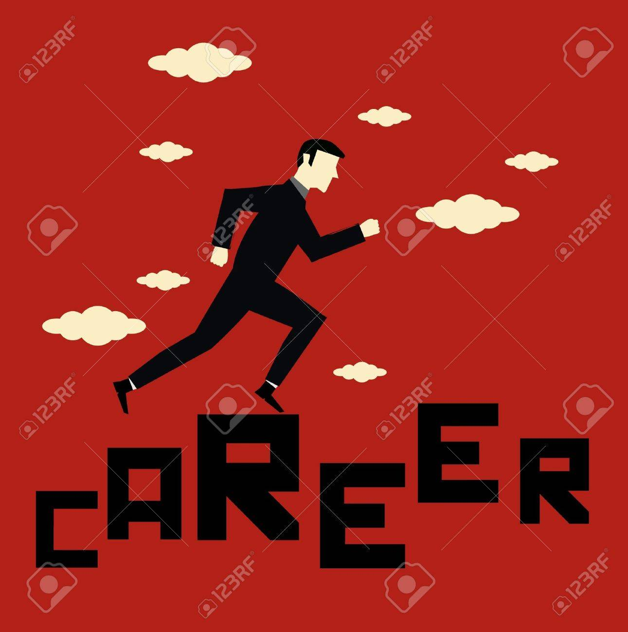 Businessman Career Stock Vector - 13792048