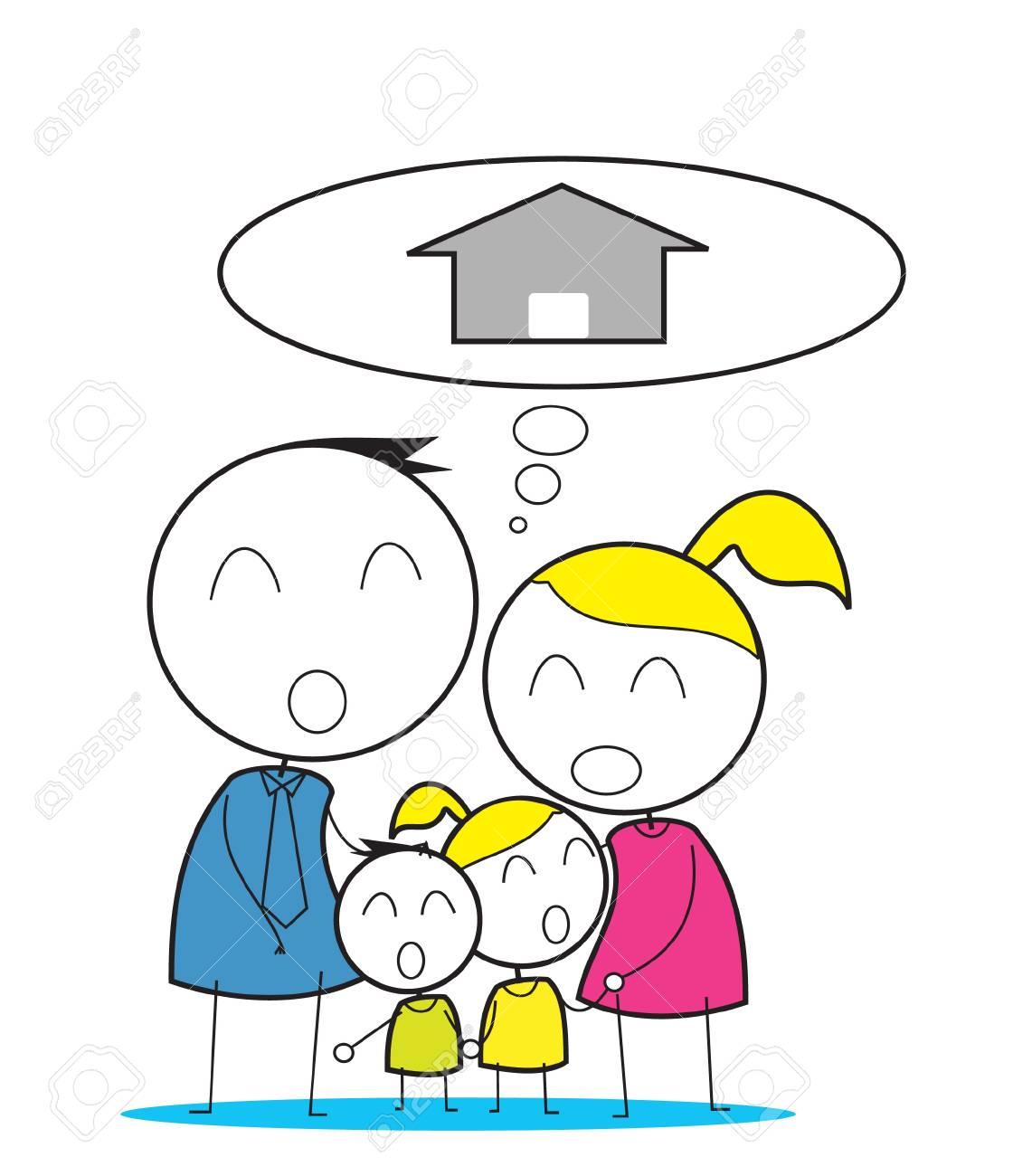 Family House Stock Vector - 14363163
