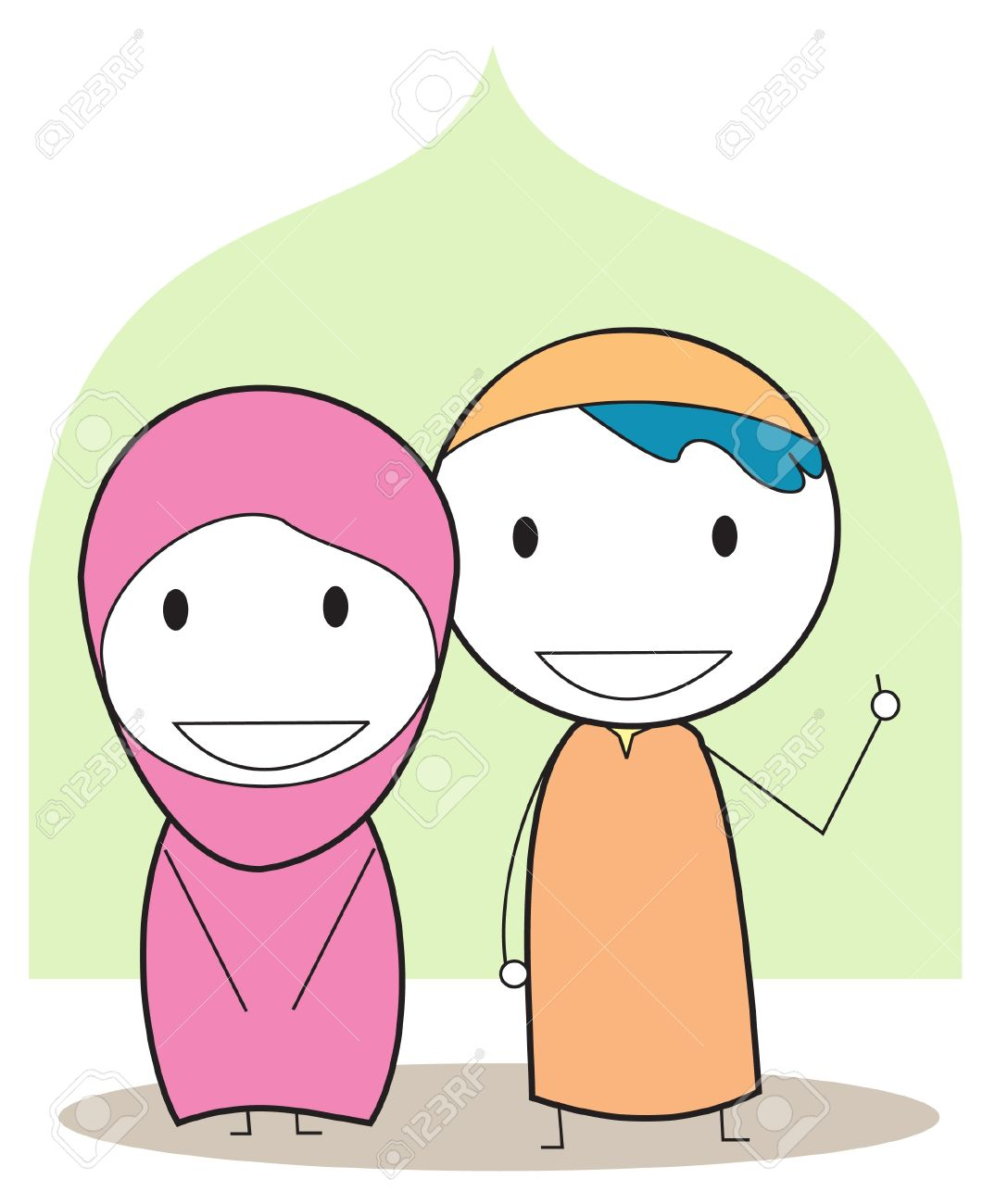 Muslim Kids Royalty Free Cliparts Vectors And Stock Illustration