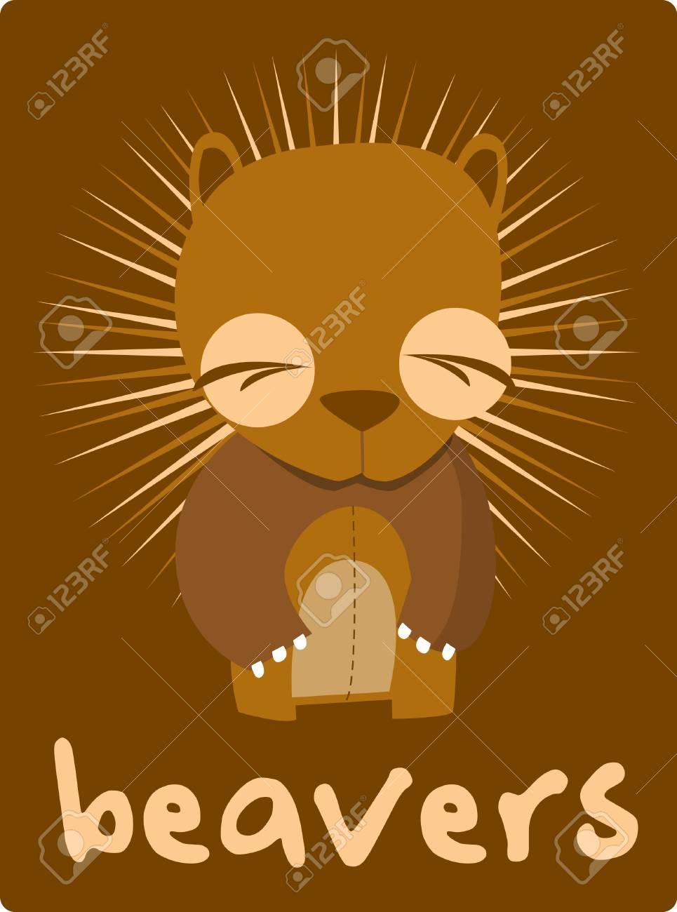 beavers Stock Vector - 14653619