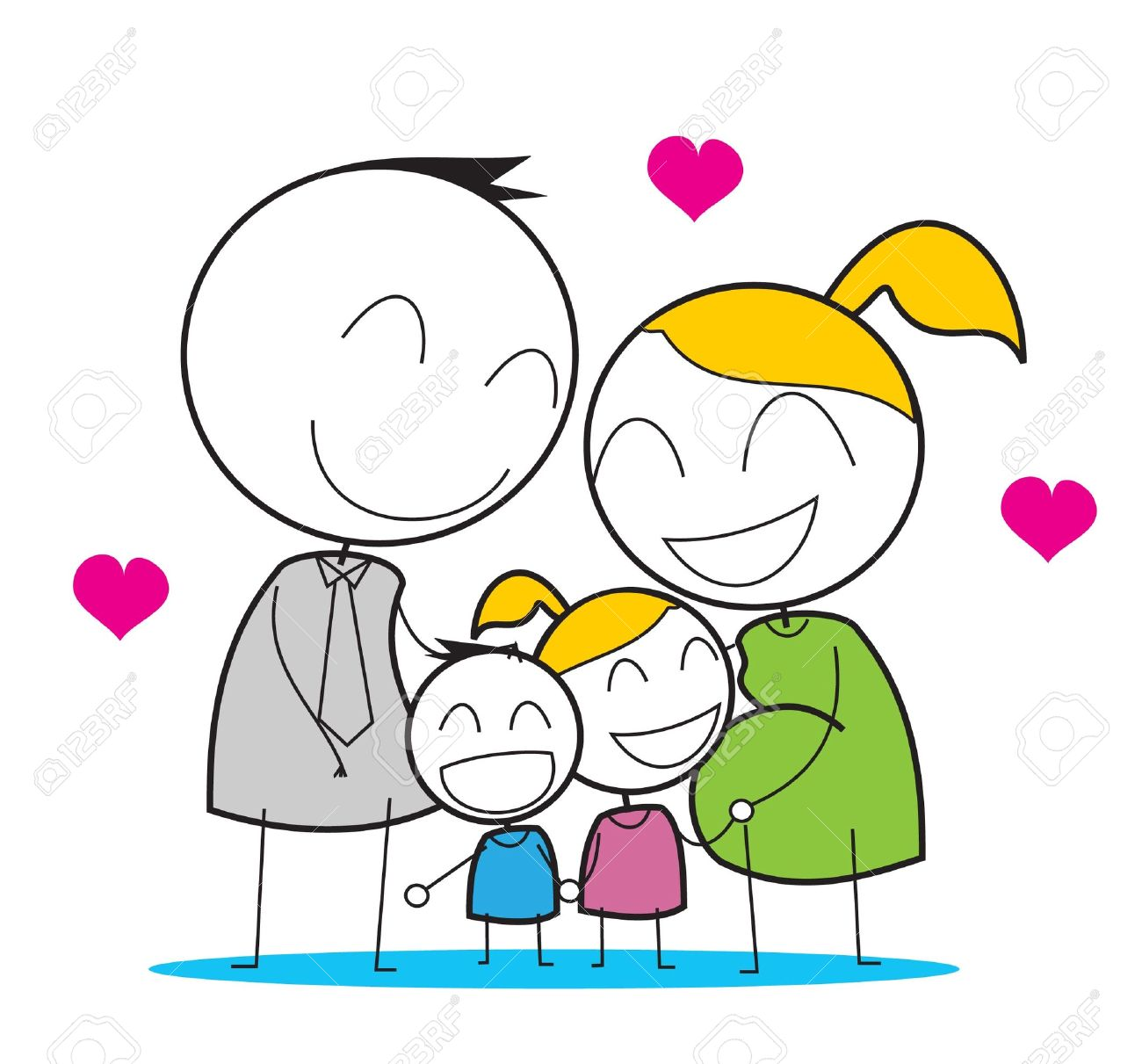 Happy Family Stock Vector - 14833253