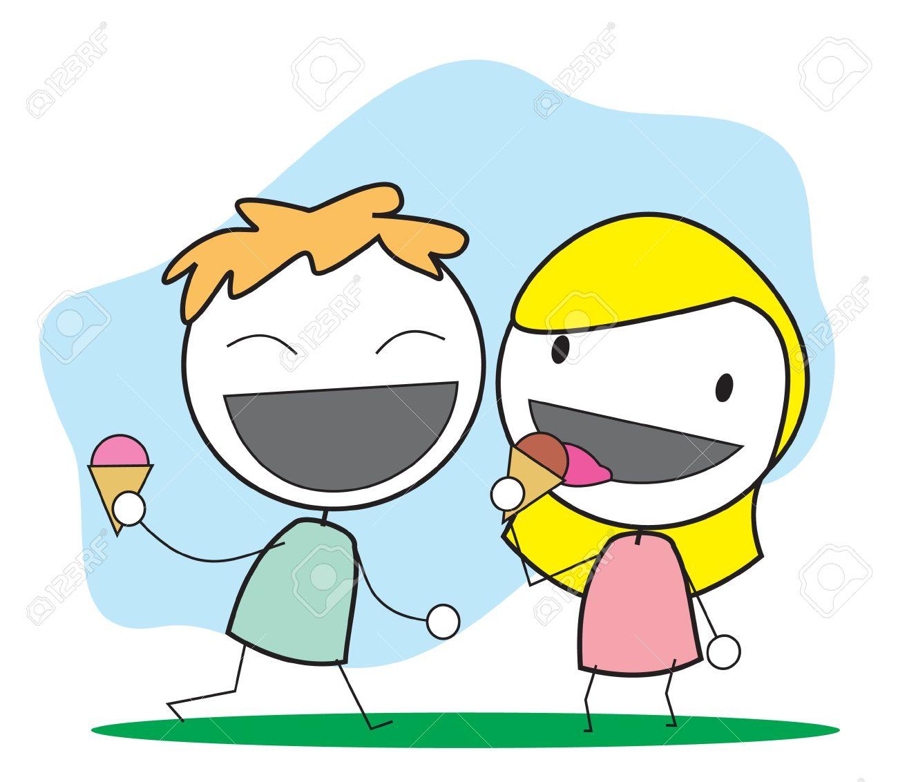 kid ice cream Stock Vector - 14833226