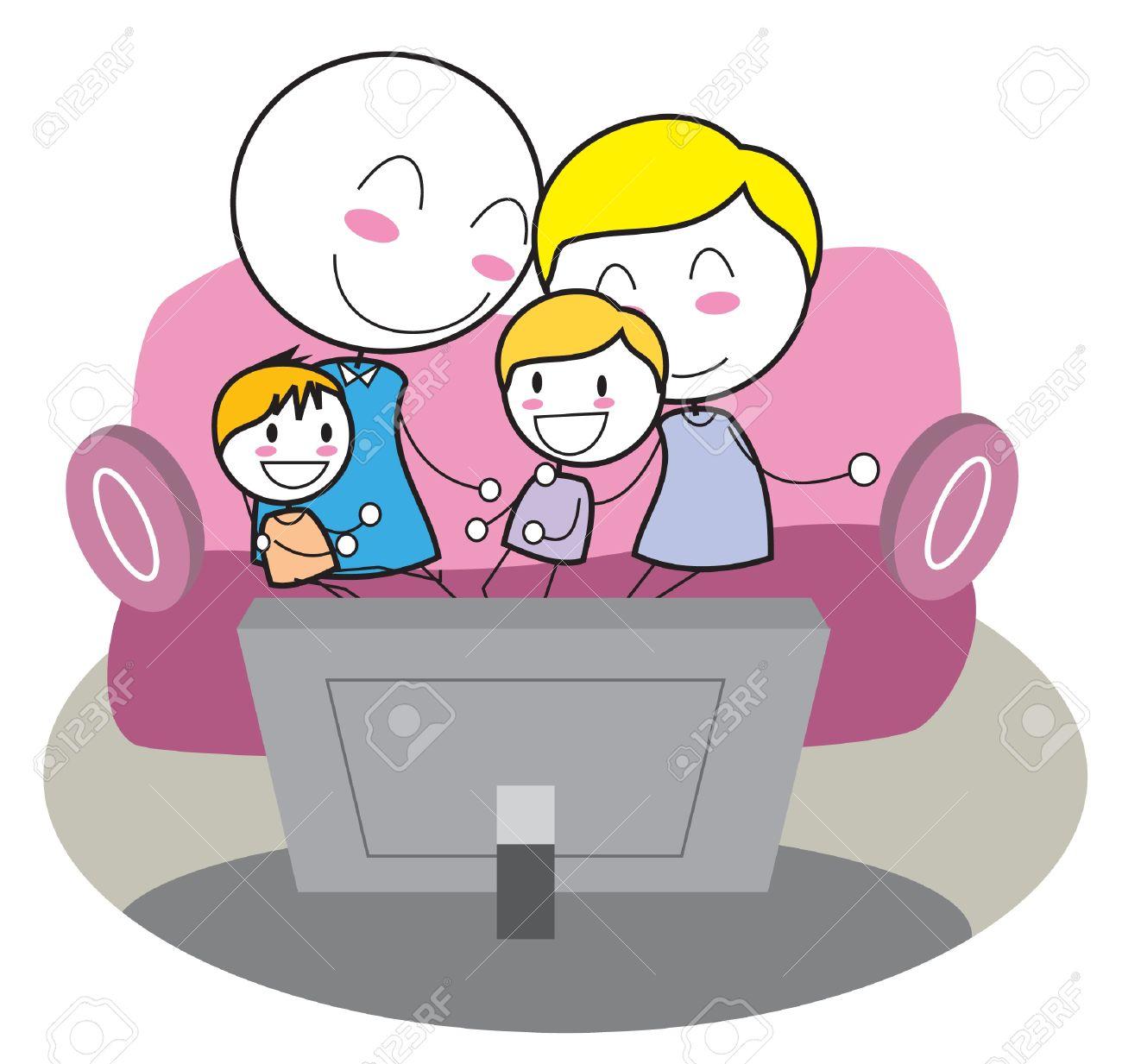 Risultato immagini per famiglia tv disegno