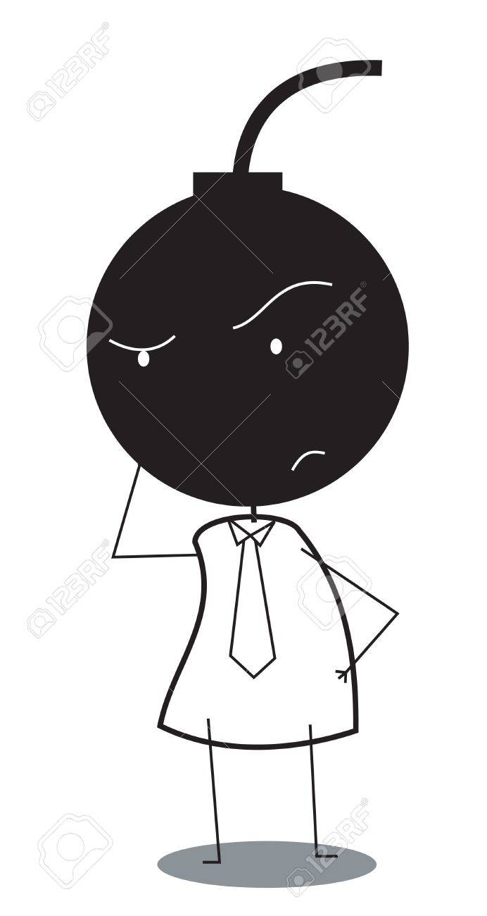 businessman with head bomb Stock Vector - 15815553