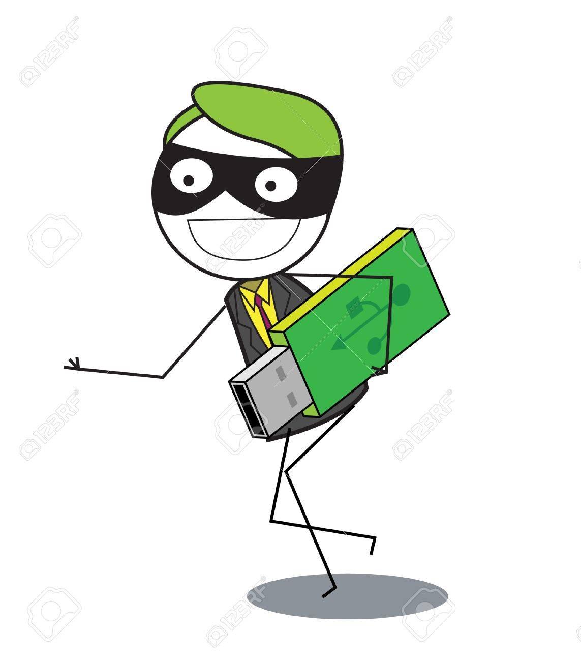 thief data Stock Vector - 20163613