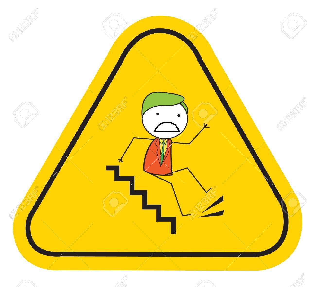 slippery slipping Stock Vector - 20861234