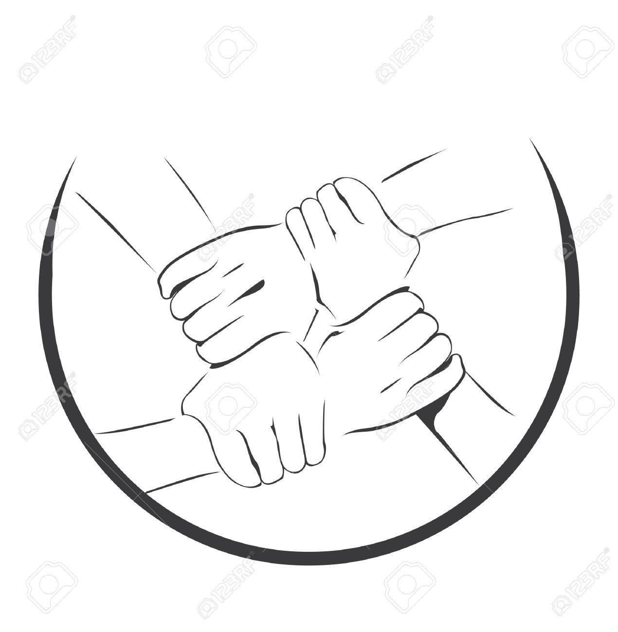Unity Hand Symbol Royalty Free Cliparts Vectors And Stock Illustration Image 27517084