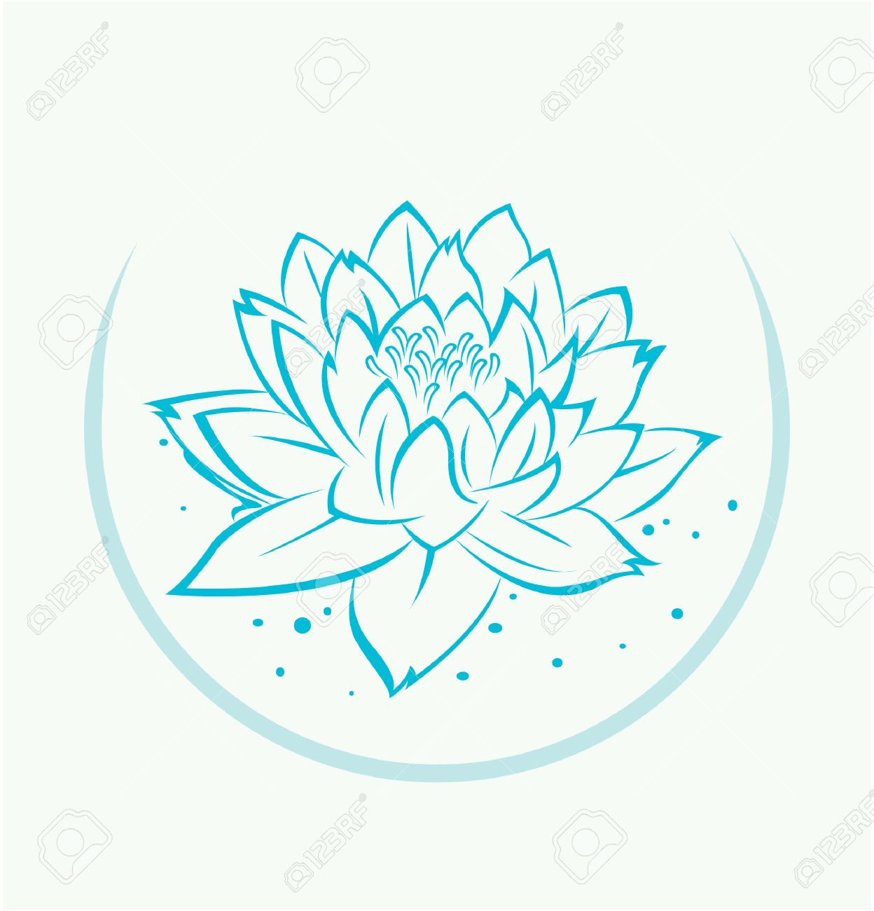 Lotus Flower Symbol Royalty Free Cliparts Vectors And Stock