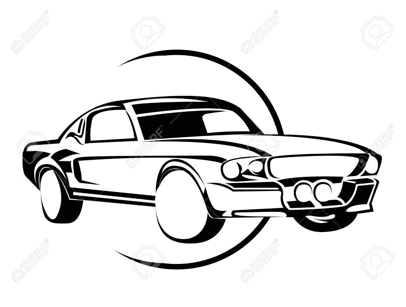 Old Muscle Car Royalty Free Cliparts, Vectors, And Stock ...