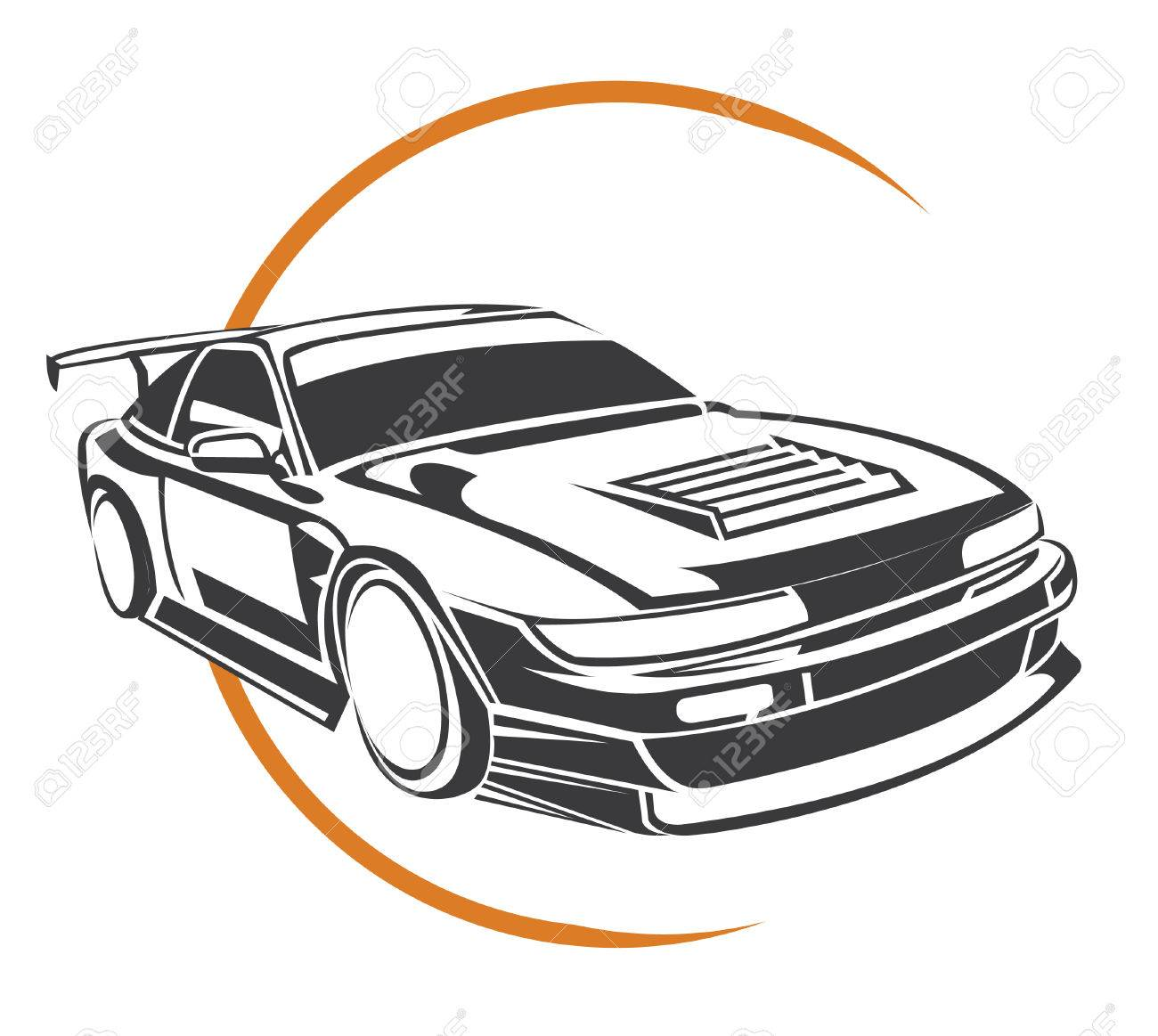 Sport Car Symbol Royalty Free Cliparts Vectors And Stock