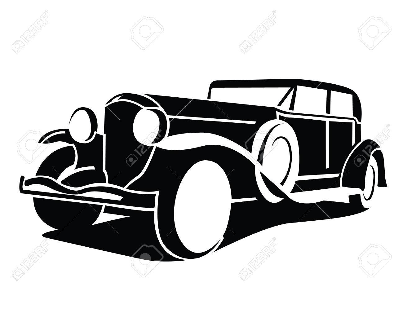 Classic Car Symbol Royalty Free Cliparts, Vectors, And Stock ...
