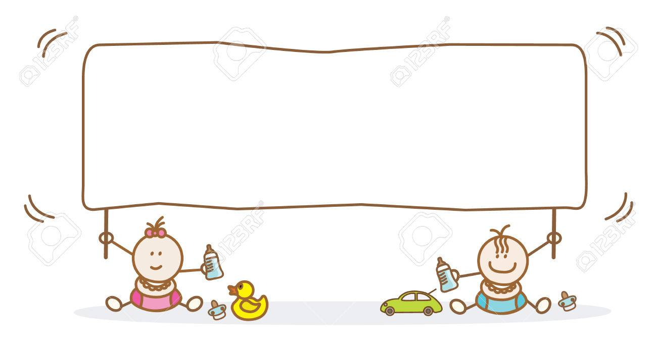 Baby Holding Banner Royalty Free Cliparts Vectors And Stock Illustration Image 38494766