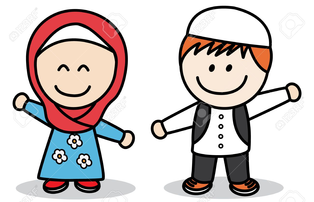 Image result for muslim little boys and girls clipart