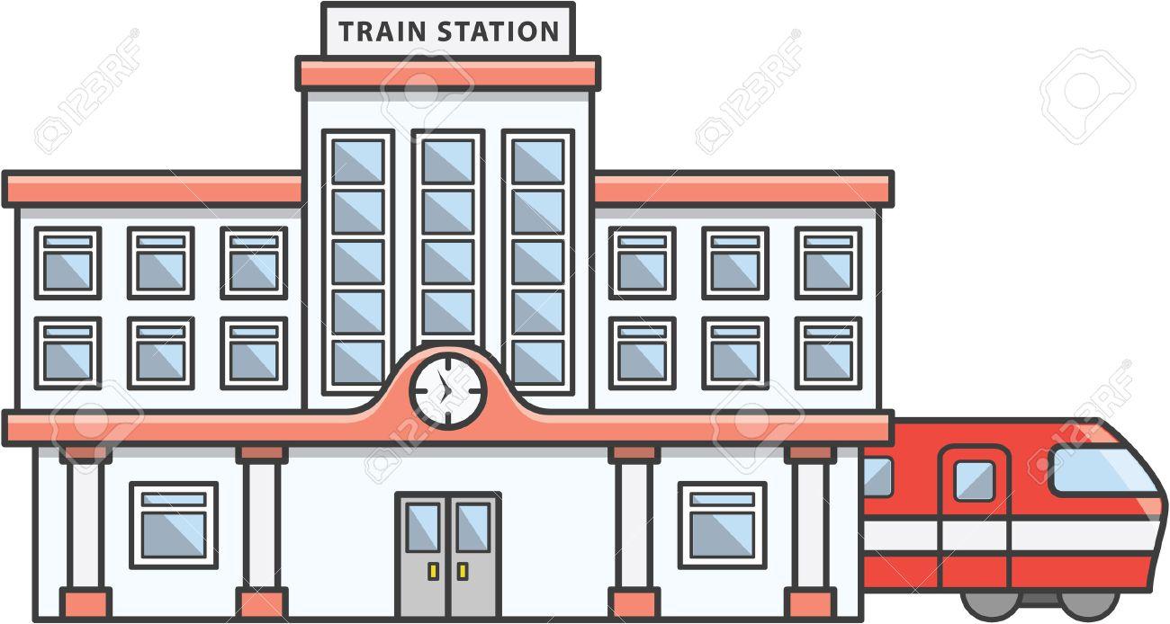鉄道駅落書きイラスト漫画 ロイヤリティフリークリップアート、ベクター
