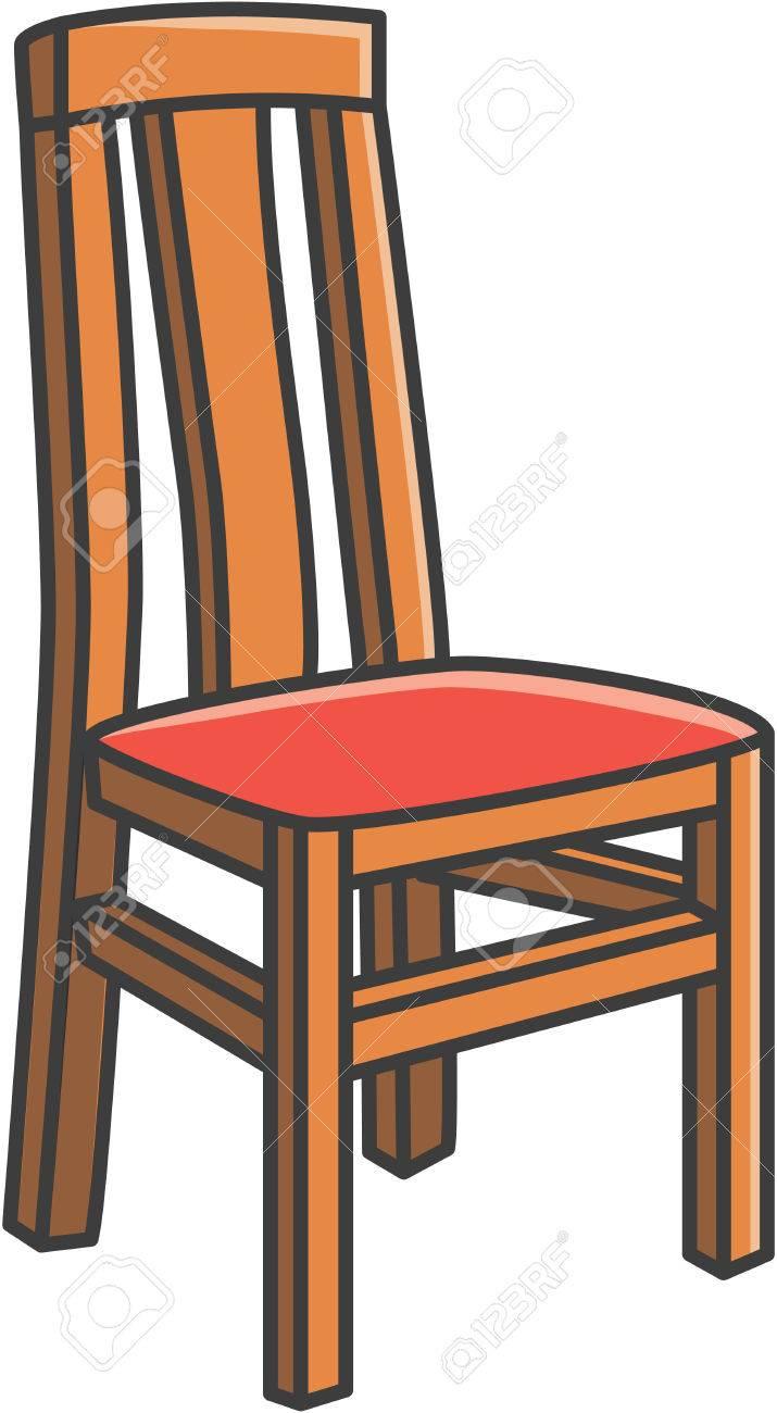 Comedor Ilustración De Dibujos Animados Vector De La Silla