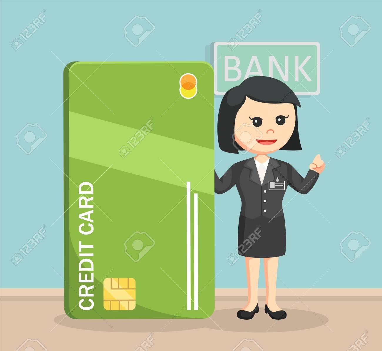 巨大なクレジット カードの横に...