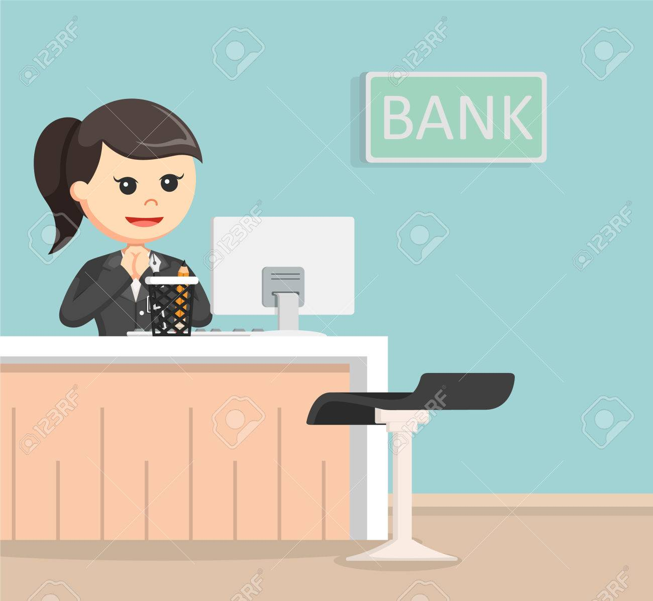 Design Teller bank teller illustration design royalty free cliparts