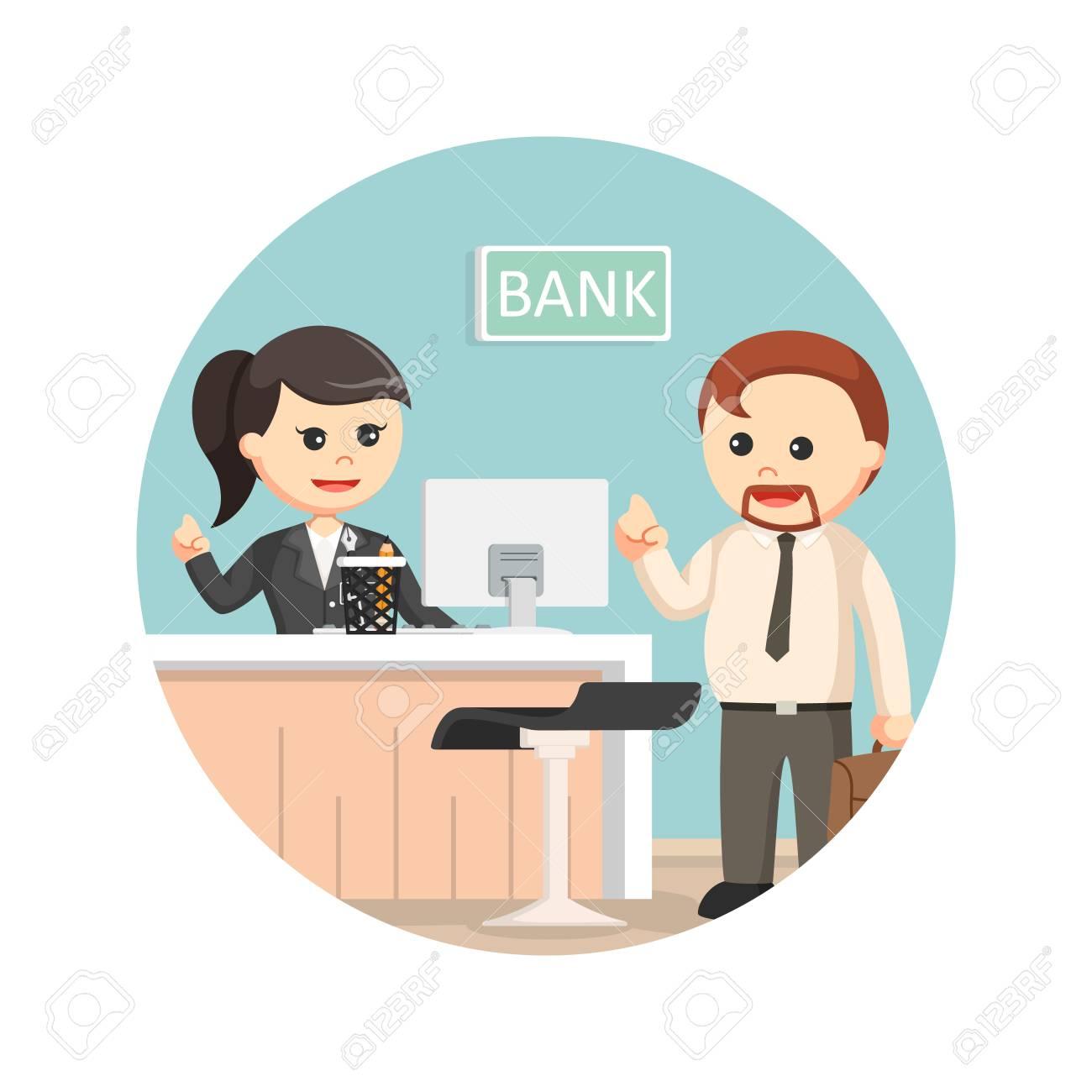 銀行の出納係はサークル バック ...