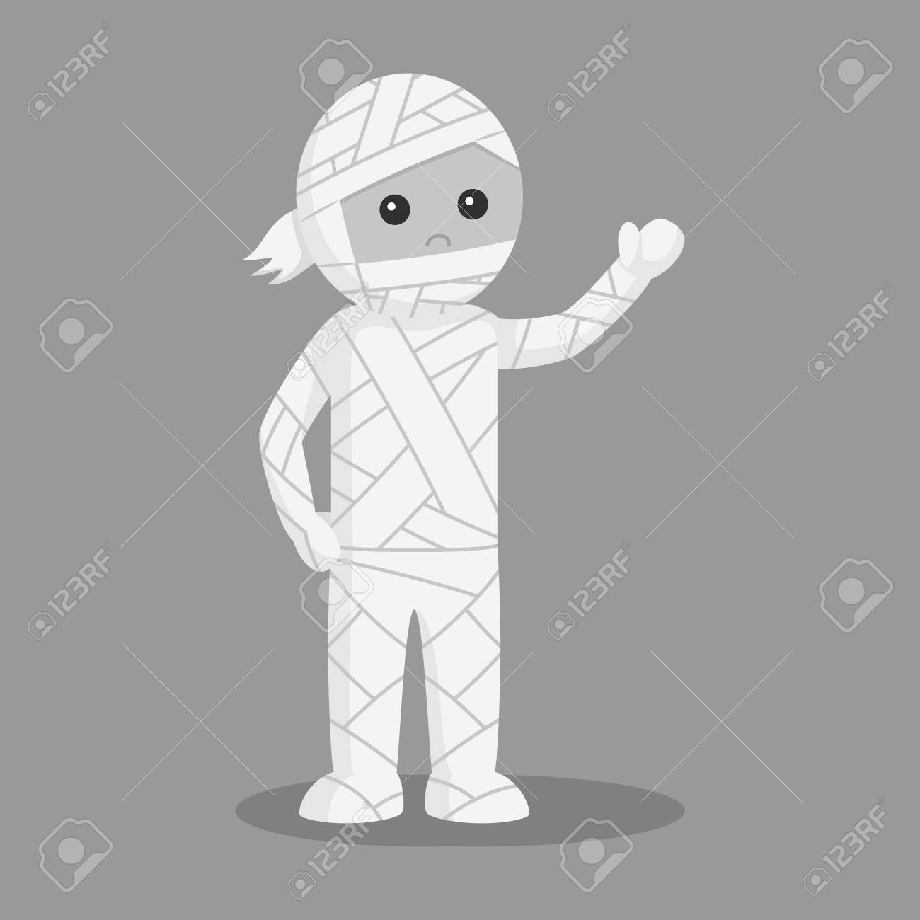 Man In Mummy Costume Black And White Style Stock Photo Picture And Royalty Free Image Image 95066456