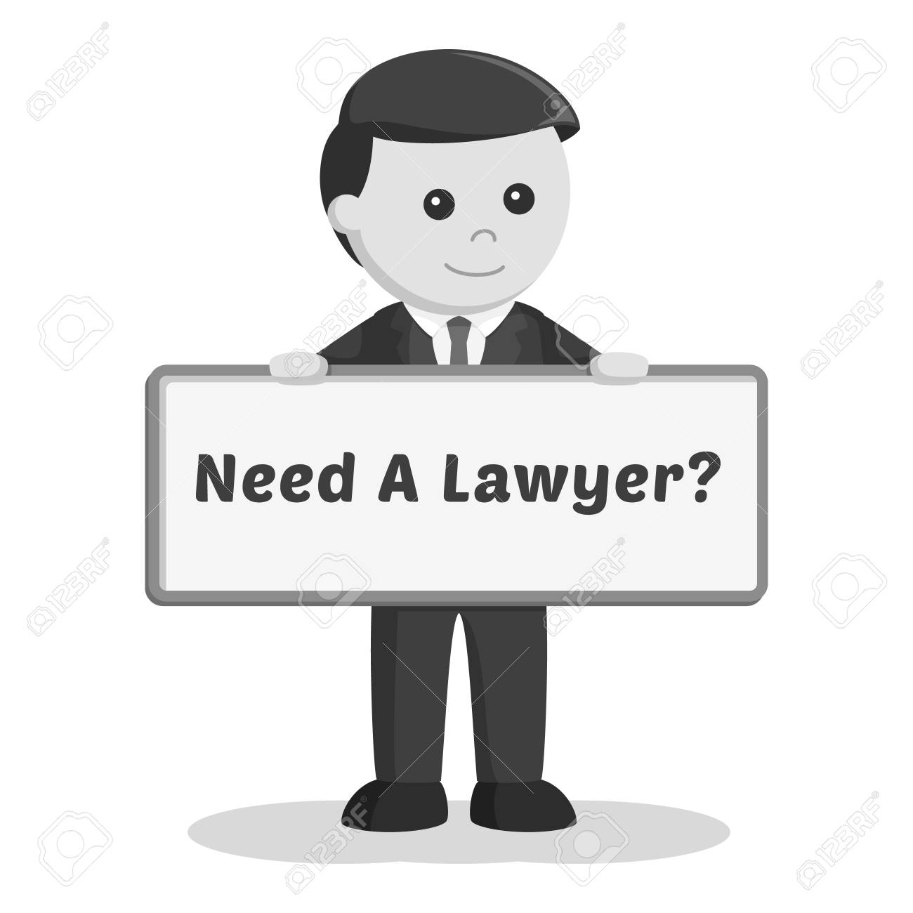 Female Lawyer With Legal Documents Black And White Style Royalty Free  Cliparts, Vectors, And Stock Illustration. Image 96245653.