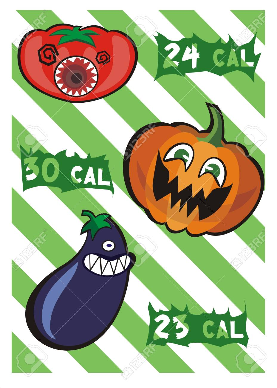 Monster vegetables and Calories Stock Vector - 12491630