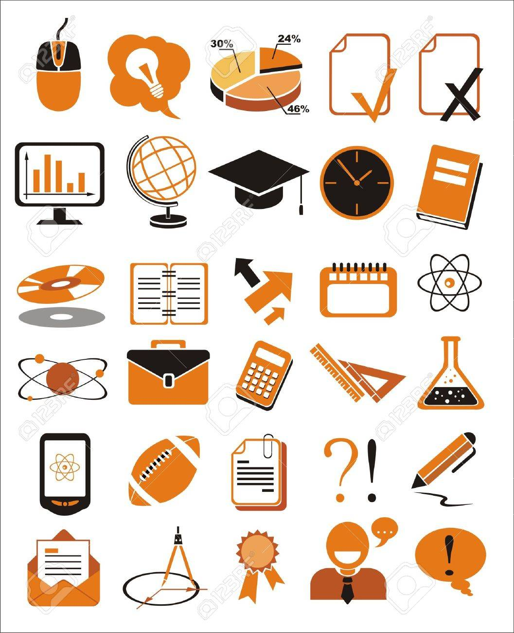 30 education icons vector illustration set Stock Vector - 13174982