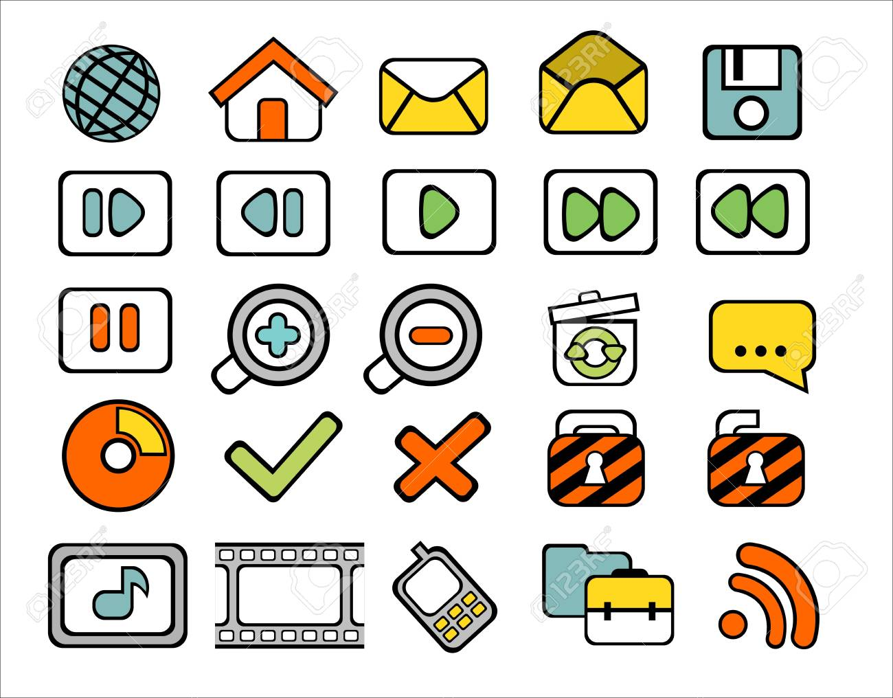 40 doodle web icons on white background Stock Vector - 14355181