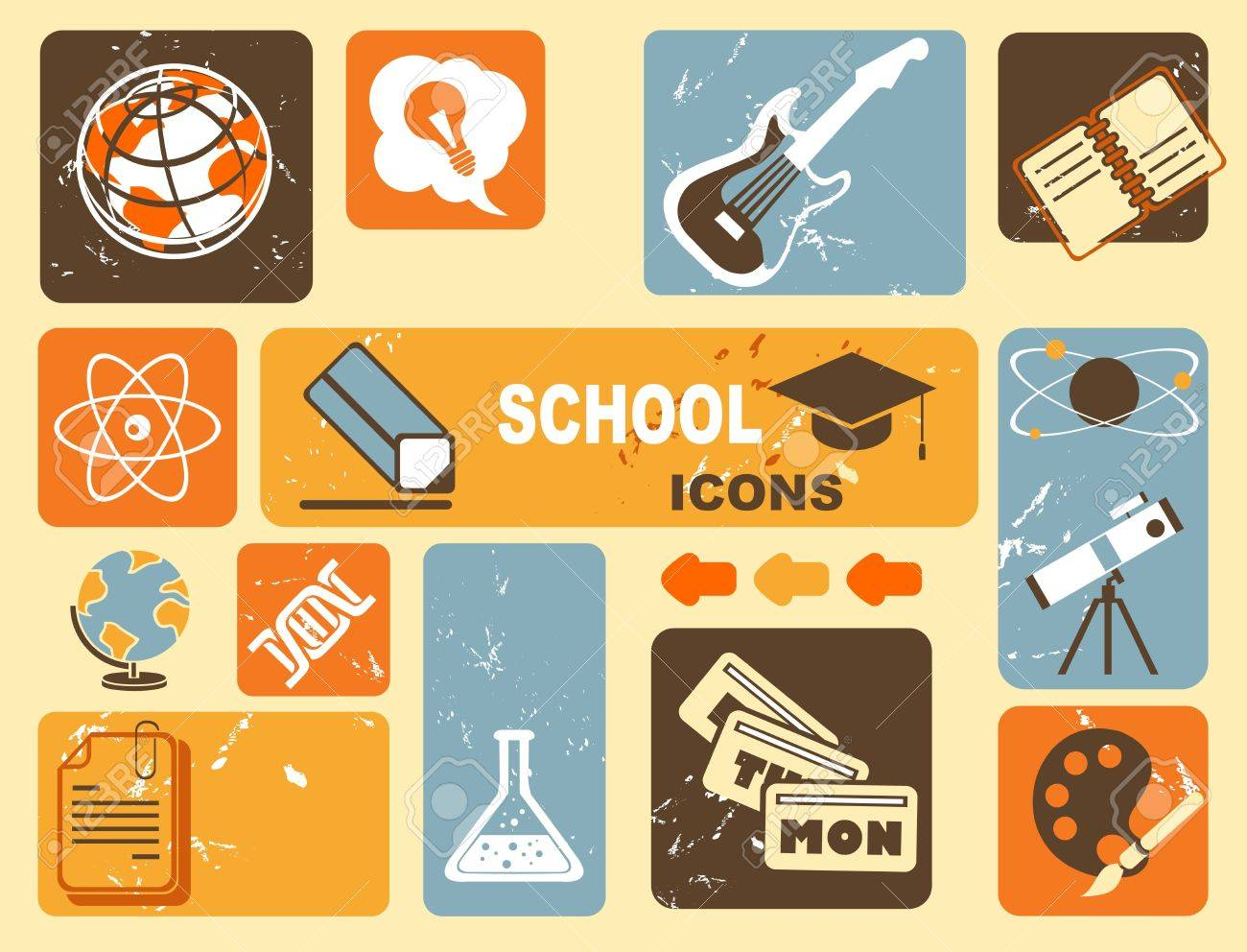 education icons Stock Vector - 16885790