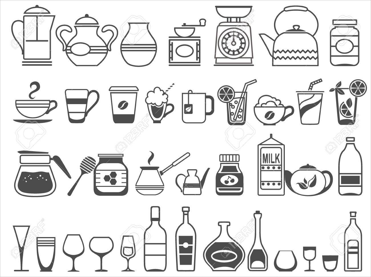 Kitchen Tools And Utensils kitchen tools and utensils. vector illustration royalty free