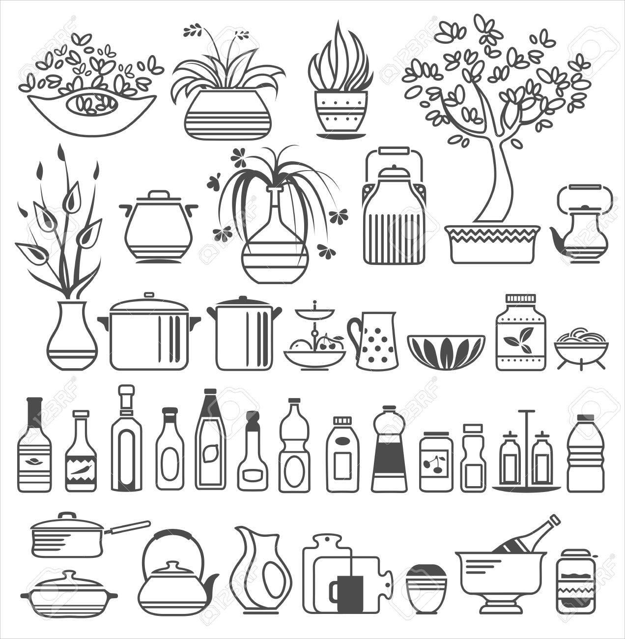 kitchen tools and utensils. Vector illustration Stock Vector - 20869243