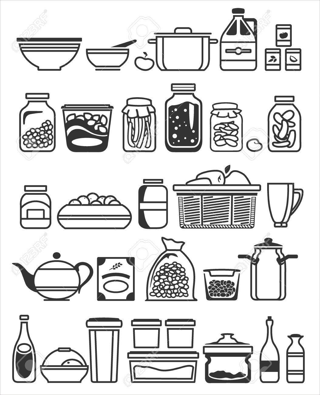 kitchen tools and utensils. Vector illustration Stock Vector - 20871689