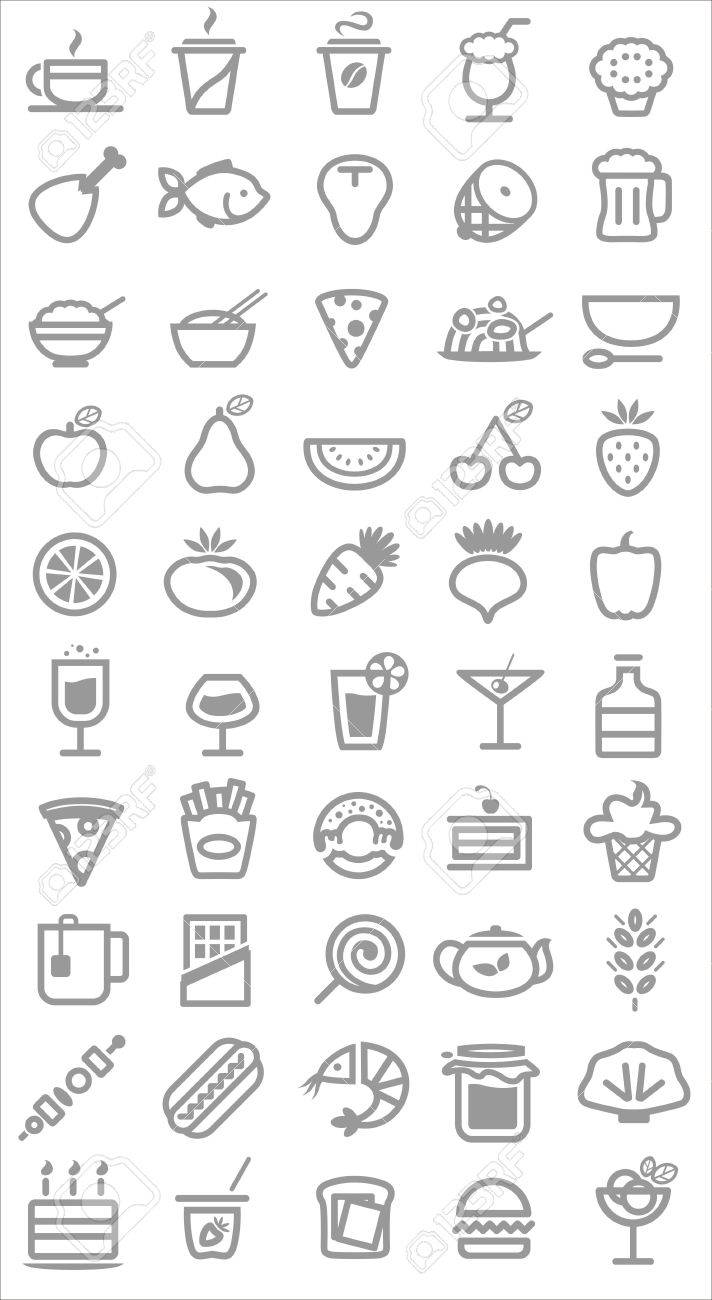 food icons. Vector illustration Stock Vector - 20871695