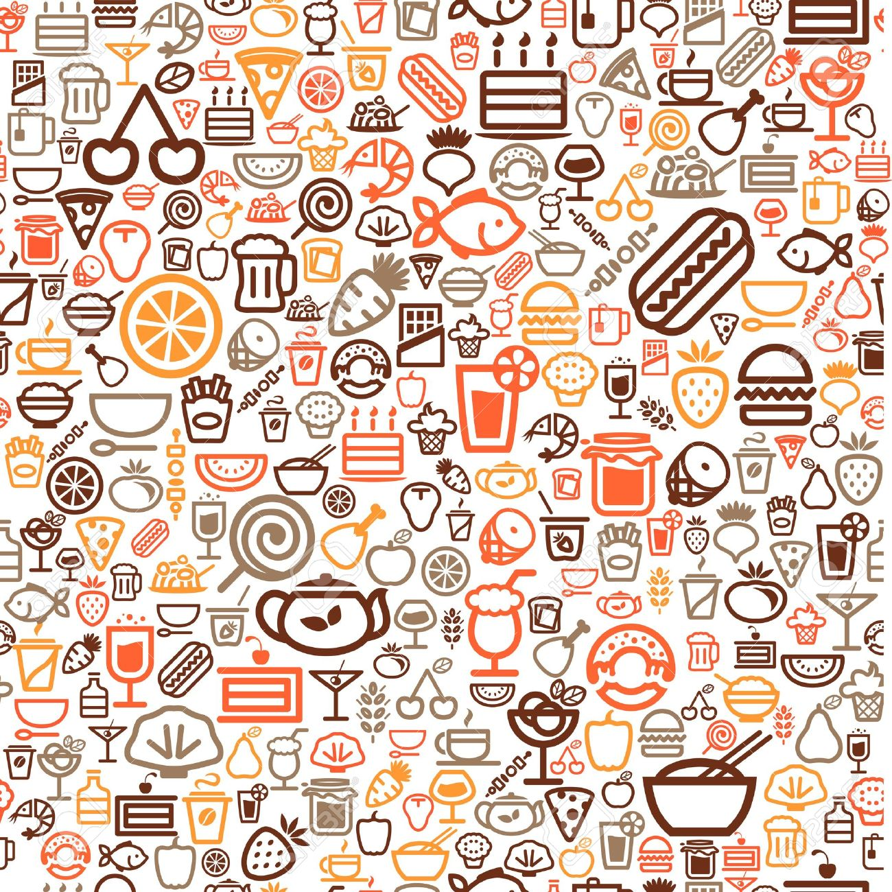 Seamless Food Background Royalty Free Cliparts Vectors And Stock