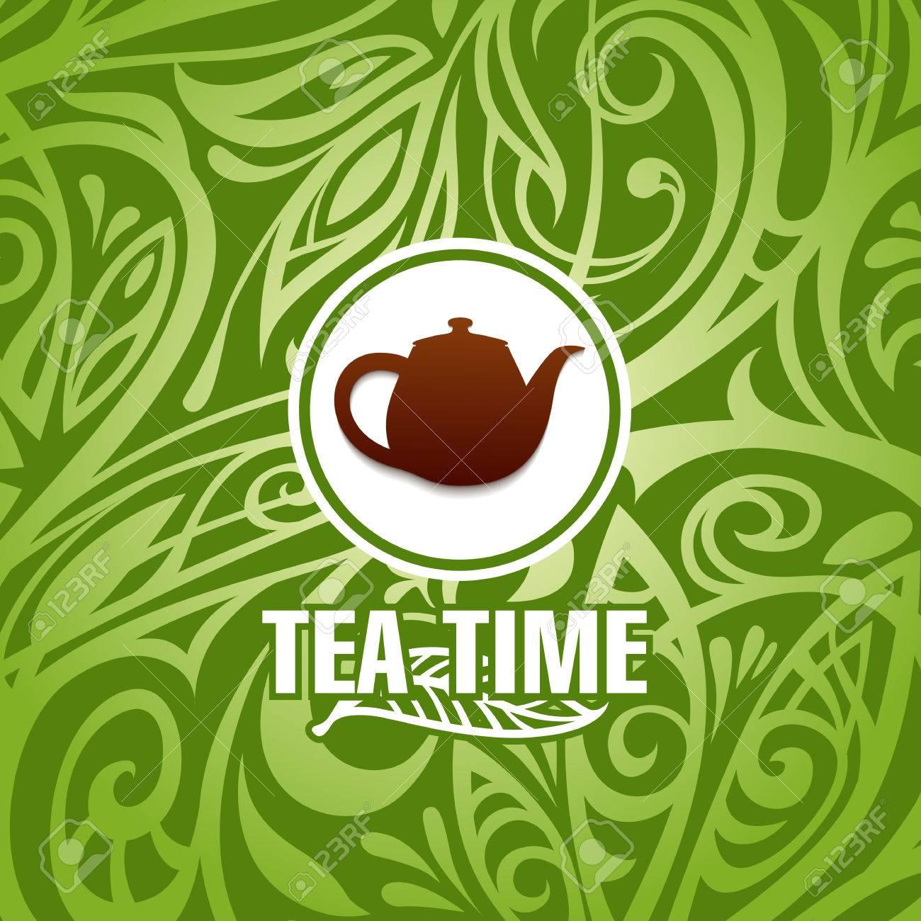 tea time vector template Stock Vector - 27514769